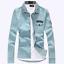 Men-039-s-New-Casual-Stylish-Jean-Denim-Slim-Fit-Long-Sleeve-Shirt-3-Colors-010 thumbnail 3
