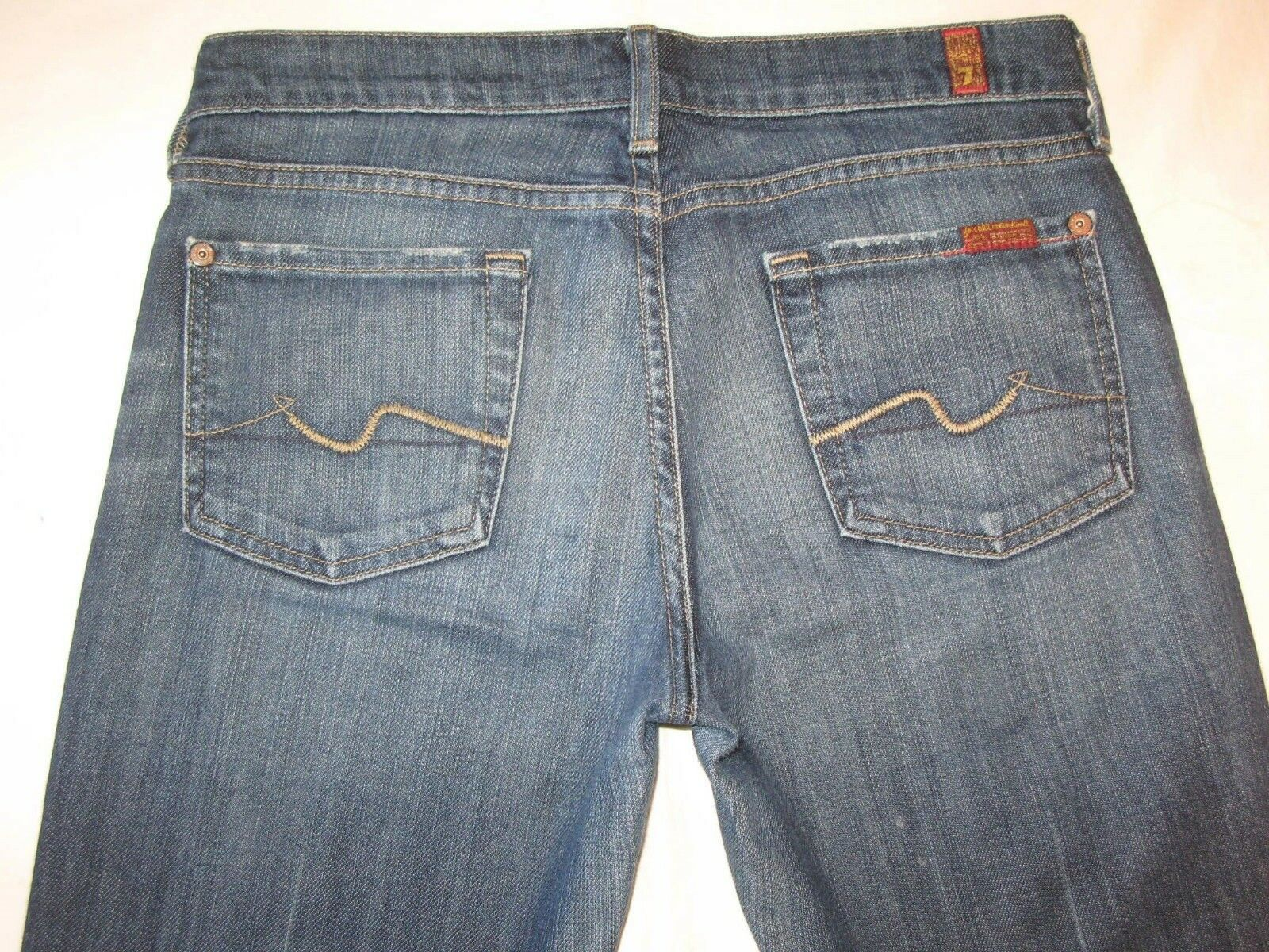 7 for all Mankind Bootcut jeans Woman Sz 26 w Stretch Distressed Wash