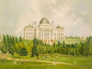 PAINTINGS LANDSCAPE WHITE HOUSE WASHINGTON PRESIDENT ART POSTER PRINT LV3246 Antiquitäten & Kunst Kunstplakate