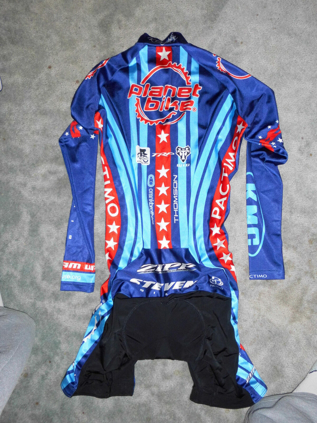 Pactimo USA Champion Meister / Team Stevens Cross Einteiler / Meister Skinsuit 75d5a6