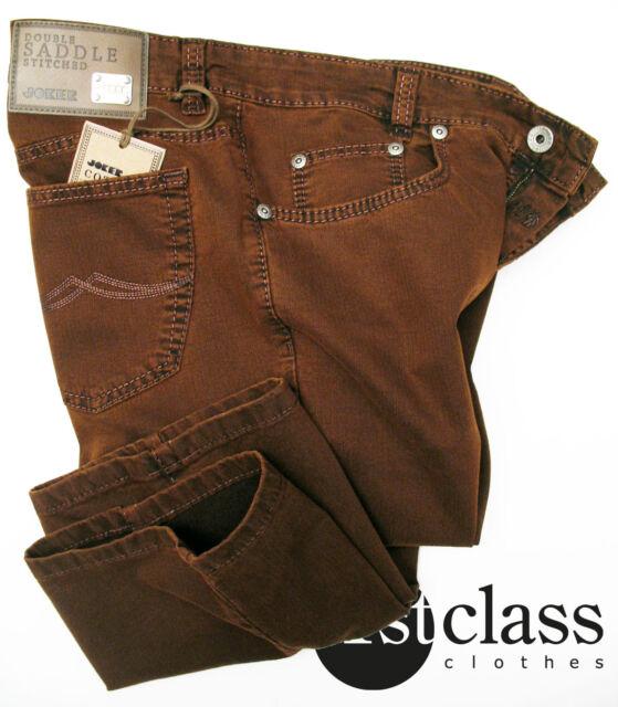 JOKER Stretch Fischgrät Jeans CLARK 3969/322 copper