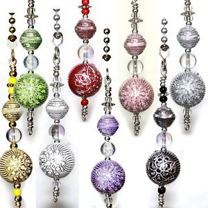 Silver Accent Flower Acrylic Beads Your Ceiling Fan Light