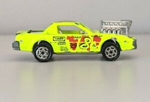 Majorette-No248-Neon-Yellow-1990-039-s-Pontiac-Firebird-Race-Car-Diecast-1-62-scale