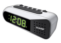 Sharp Digital Dual Alarm Clock Electric W/ Battery Backup Ascending Alarm Spc100