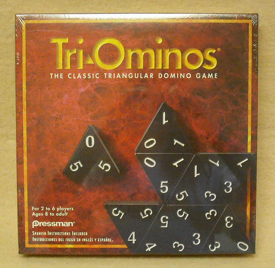 PRESSMAN   CASE OF 6  TRI-OMINOES GAME - NEW  - MADE IN USA         ZPRE-4420