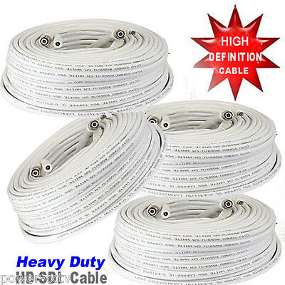 6x 100ft Premade RG59 Combo Siamese Coaxial BNC Cable for High Definition Camera
