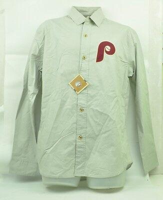 Mlb Philadelphia Phillies Red Jacket Herren Medium Langärmlig Knopfleiste Grau Erfrischung Fanartikel