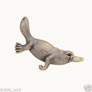 ONE-Antique-Bronze-Gold-Platypus-Brooch-lt-BR-gt