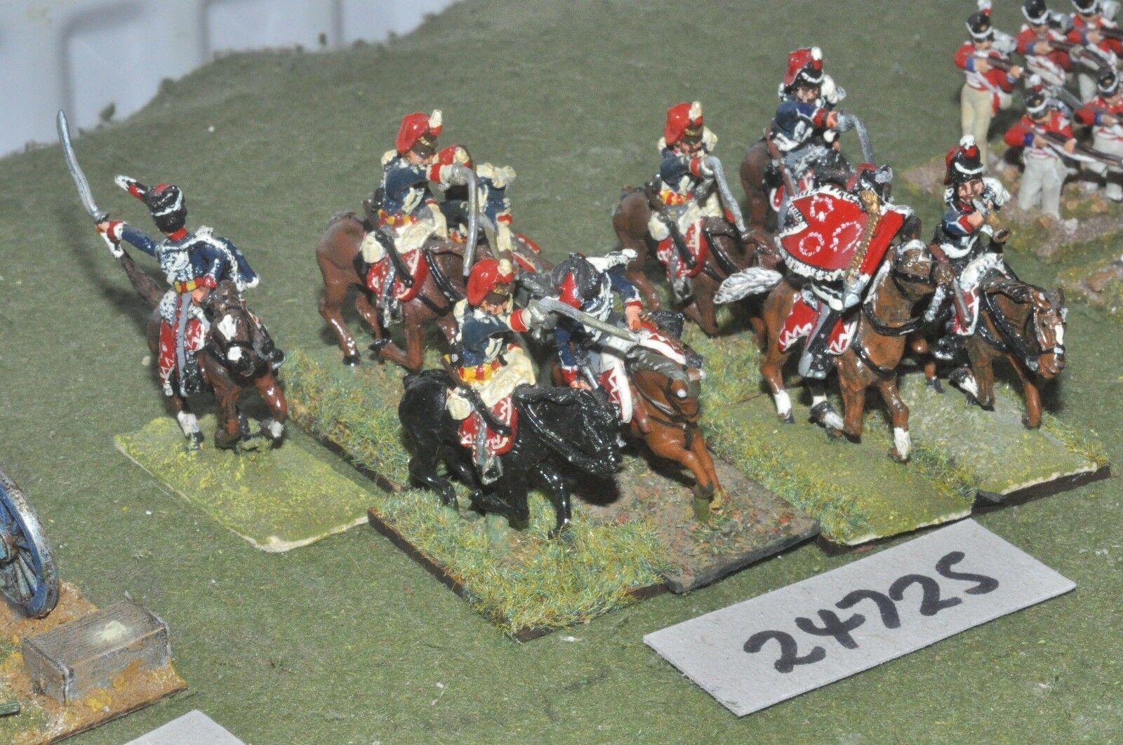 25mm napoleonic   british - hussars 9 figures - cav (24725)