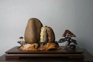 2134 Suiseki Bonsai Natural Water Stone Waterfall Creative Base Qsz62134616 Ebay