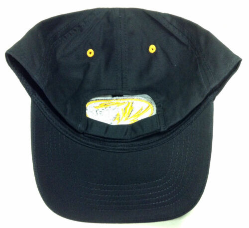 UNIVERSITY OF MISSOURI TIGERS LOGO BLACK ADJUSTABLE HAT CAP MASCOT RETRO NCAA