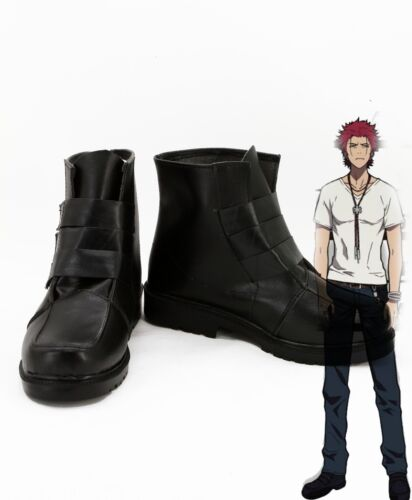 K King Suoh Mikoto Cosplay Shoes Boots For Men Boys New