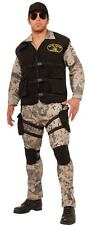 Men's Seal Team 4 Military Costume Camo Fatigues Army Navy Size Standard