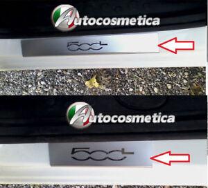 2 BATTICALCAGNO IN ACCIAIO A LED PERSONALIZZATI PROTEZIONI PLASTICHE FIAT 500