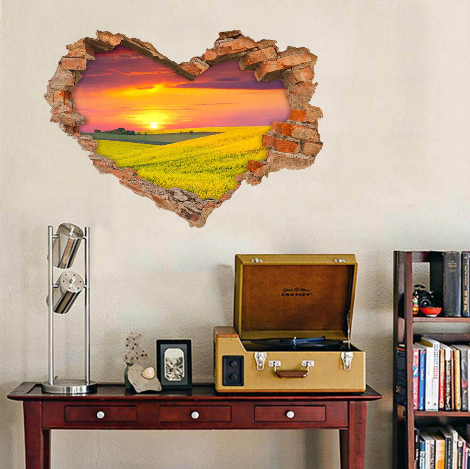 3D Sunrise Felder 6 Mauer Murals Aufklebe Decal Durchbruch AJ WALLPAPER DE Lemon
