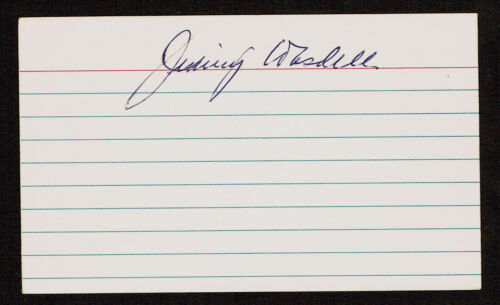 Jimmy Wasdell d. 1983 signed autograph Baseball 3x5 Index Card 600443