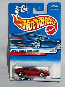 Hot-Wheels-2000-First-Editions-12-Dodge-Charger-R-T-Dark-Red-w-5SPs
