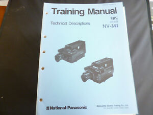 100% Wahr Original Service Manual Panasonic Nv-m1 Professionelles Design