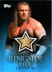 WWE-Triple-H-2009-Topps-Ringside-Relic-Event-Worn-Shirt-Card-Multi-Color