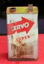 1988's VINTAGE RARE INDIAN OIL SERVO SUPER MOTOR OIL ADV. TIN CAN