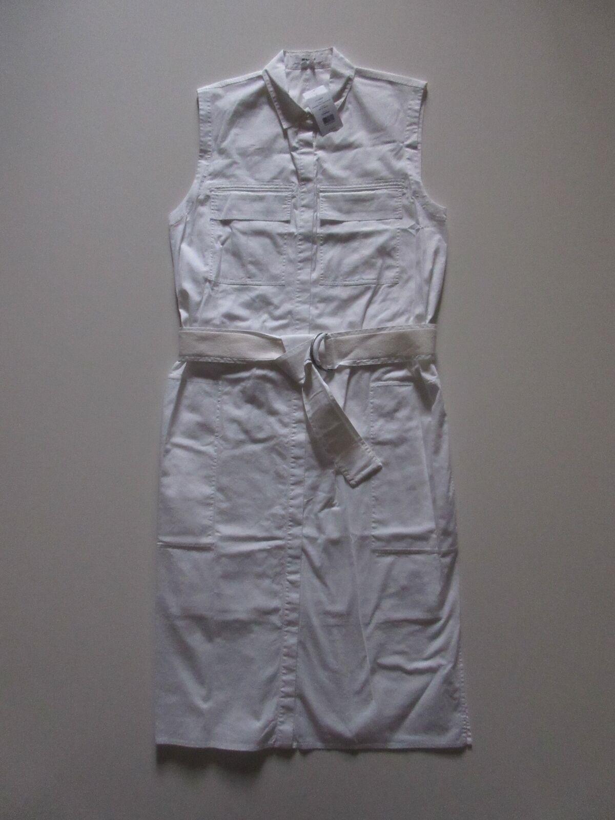 NWT Helmut Lang Optic White Washed Bellow Poplin Cotton Shirt Dress 4