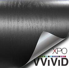 """VViViD Black Wood Grain Faux Finish Textured Vinyl Wrap 1ft x 48"""" Contact Pap..."""