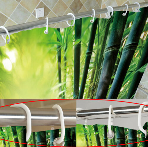 Modern Rustic Wood Wall Shower Curtain Liner Bathroom Waterproof Fabric /& Hooks