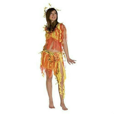 Summer Fairy Nymph Fire Goddess Adult Costume