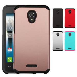 sale retailer 172d1 cc5cc Details about Slim Hybrid Case Shockproof Cover for Alcatel Fierce 4 Allura  Pop 4 Plus 5056