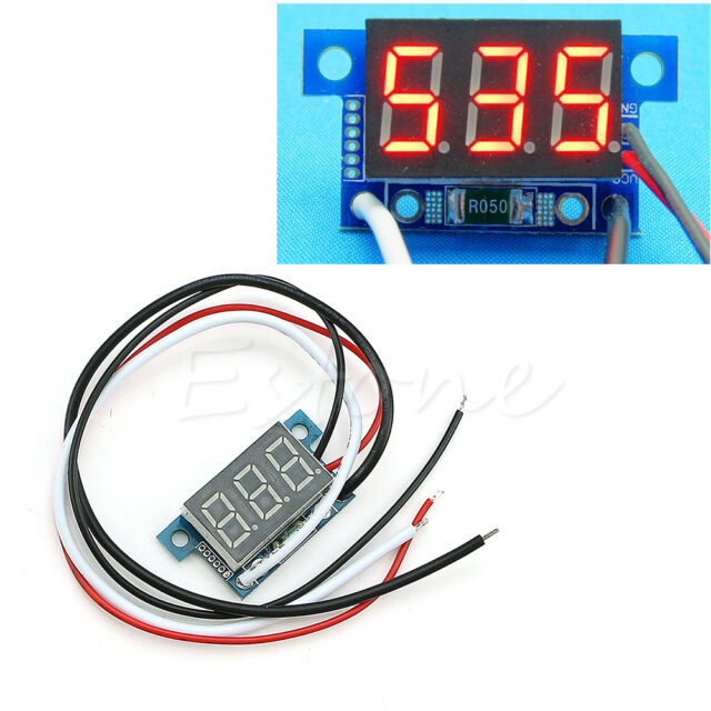 Mini LED 0-999mA DC 4-30V Digital Panel Ammeter Amp Ampere Meter with Wire 1pc
