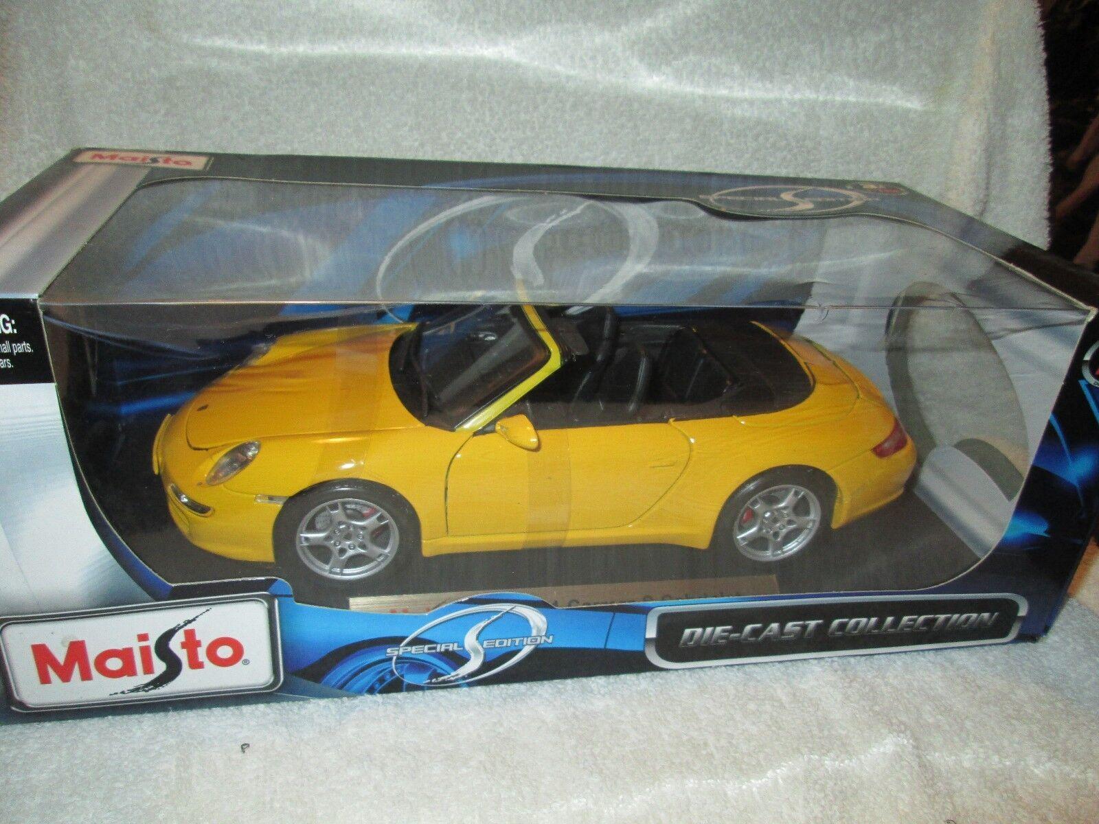 PORSCHE 911 GT2 RACE VERSION WHALE TAIL 1/18 Anson Scale Model giallo