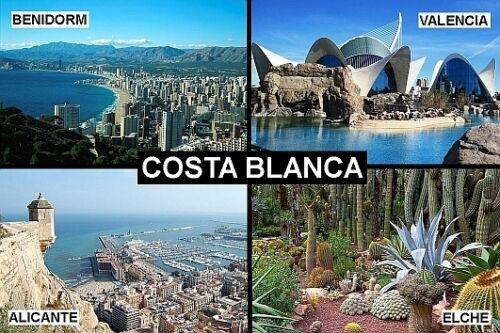 SOUVENIR FRIDGE MAGNET of THE COSTA BLANCA BENIDORM VALENCIA ALICANTE ELCHE