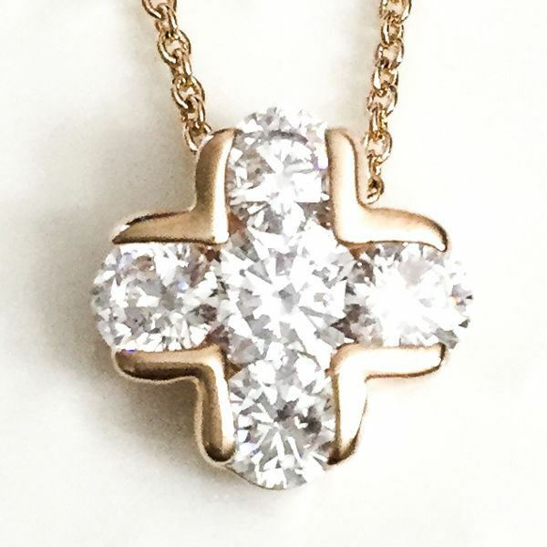 4 Ct Round Diamond Halo Pendant Necklace 14K Yellow Gold Plated 18
