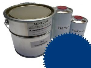 1,5 Liter Set 2K Floor Color Floor Ral 5017 Vinyl-Epoxid-Lack Lackpoint Shine