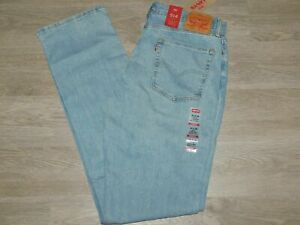 LEVIS-514-Jeans-Regular-Fit-Straight-Stretch-Big-and-Tall-Blue-Stone-Choose-Size