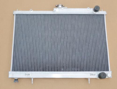 2 Row Radiator+Shroud+Fan For NISSAN SKYLINE R34 GTT RB25DET RB26DETT 98-02 MT