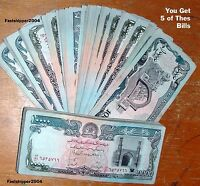 Lot 5 Bill 10,000 Afghanistan Taliban Banknote Money Paper Currency Note AFGHANI