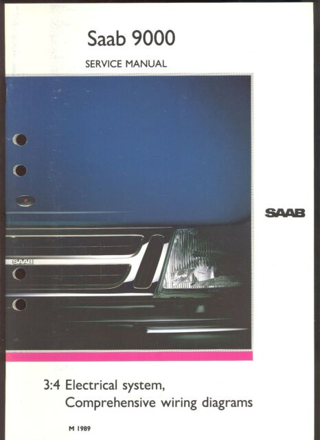 M 1989 Saab 9000    3 4 Electrical System    Wiring Diagram    Service Manual