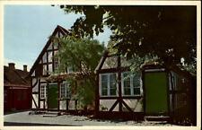 Faaborg Danimarca vecchia cartolina ~ 1950/60 holkegade strade partita reticolare CASE