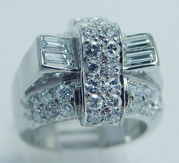 Vintage Platinum 1.32ct VS1 F Diamonds Ring 14.1 grams