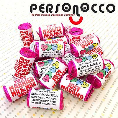 Personalised Mini Love Hearts Wedding Favours/Sweets O