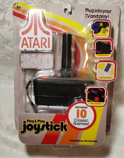 Atari 2600 Plug & Play Joystick Includes 10 Classic Games New In Package