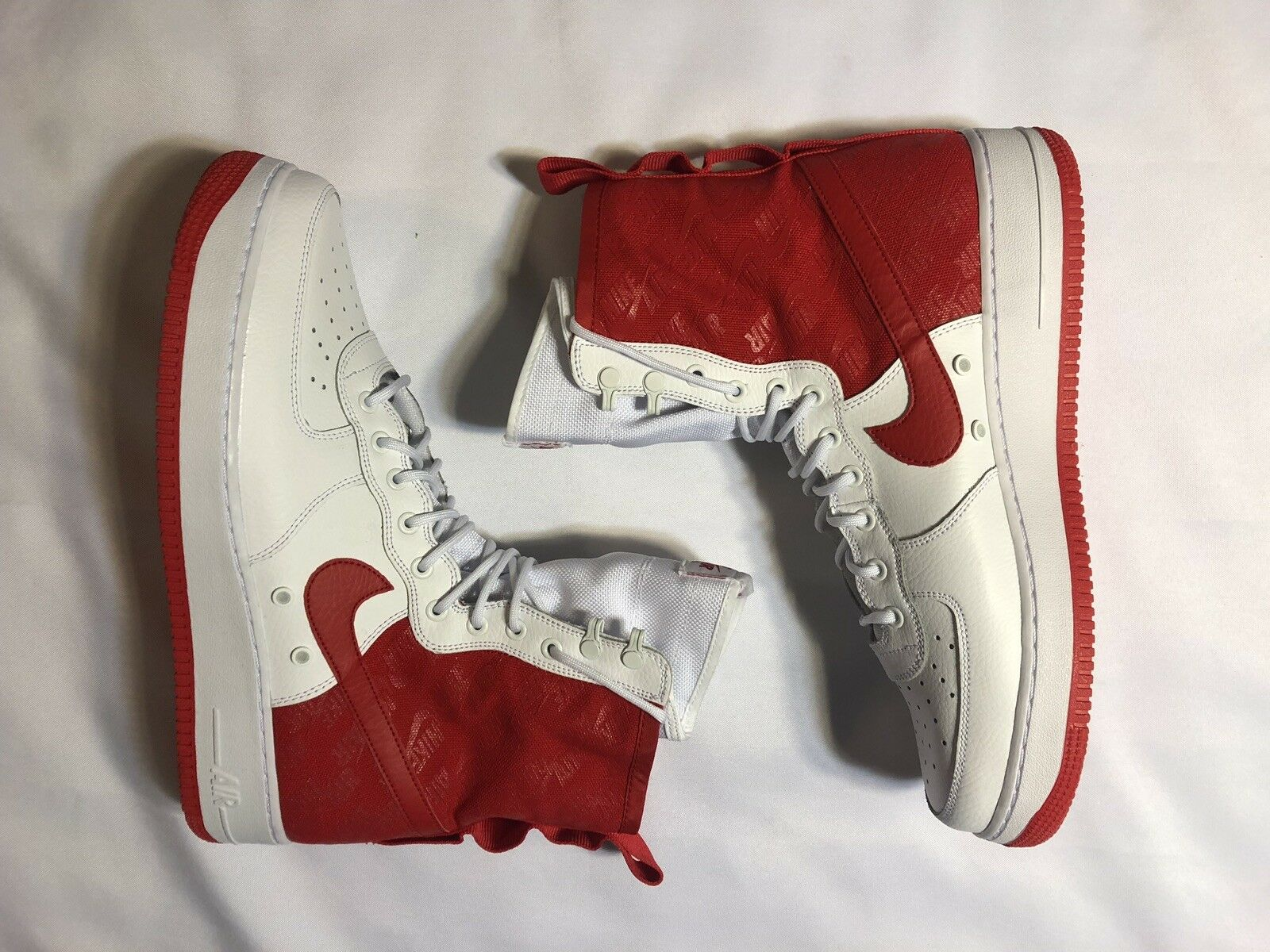 NIKE SF-AF1 High Air Force 1 University Red White AR1955-100 Sz13 Special Forces