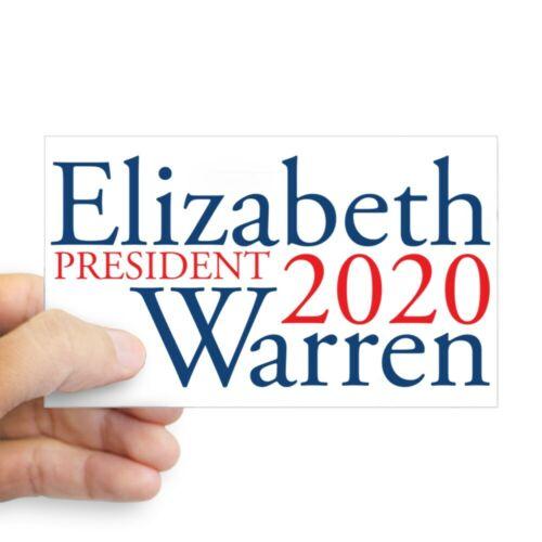 2022611221 CafePress Elizabeth Warren 2020 Rectangle Bumper Sticker Car Decal