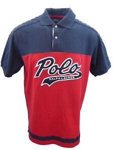 New-Polo-Ralph-Lauren-Mens-Big-amp-Tall-Felt-Script-Logo-Mesh-Rugby-Polo-Shirt-XLT