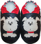 Minishoezoo-leather-shoes-toddler-slippers-dog-black-24-36m-US-9-10 Indexbild 1