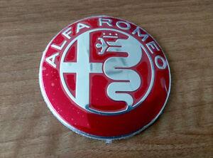 RED/&BLACK Alfa Romeo GIULIA steering wheel emblem badge logo insignia 40mm
