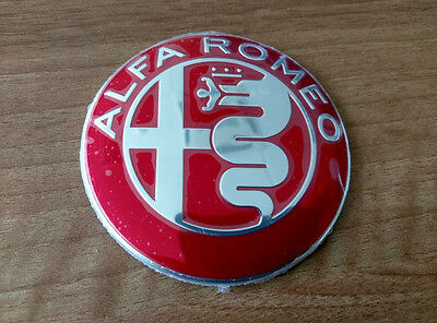 Alfa Romeo NEW GIULIA RED emblem badge logo insignia 74mm