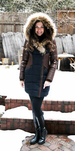7aaa5ca986a59 Image is loading 100-AUTHENTIC-Rudsak-Shauna-Leather-Down-Coat-With-