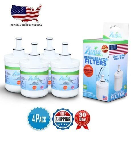 4 Zuma Refrigerator Water Filter For Samsung DA29-00003G DA29-00003B USA MADE